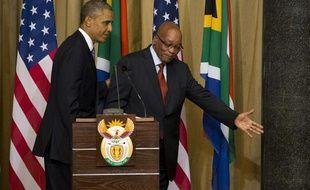 Barack Obama et Jacob Zuma, le 29 juin 2013