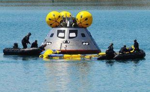 Le futur support en vol de la capsule Orion (ici, lors d'un essai) emportant les astronautes américains va être assuré par Airbus.