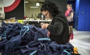Les Atelières de Villeurbanne s'étaient spécialisées dans la fabrication de lingerie de luxe, après le déclin de la compagnie Lejaby.  AFP PHOTO / JEFF PACHOUD