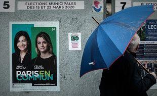 Le logo PS ne figure pas sur l'affiche de campagne d'Anne Hidalgo, à la différence de 2014.