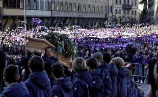 Les funérailles de Davide Astori, à Florence, le 8 mars 2018.