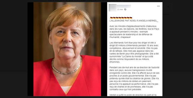 This long message is also circulating in Italian or English.