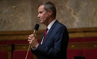 Nicolas Dupont-Aignan, à l'Assemblée nationale le 29 septembre 2020.