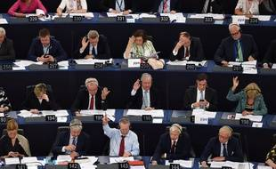 Des membres du parlement européen à Strasbourg, le 13 juin 2018.