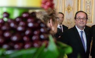 François Hollande lors du 40e anniversaire de l'interprofession des producteurs et vendeurs de fruits et légumes à Paris, le 6 juillet 2016.