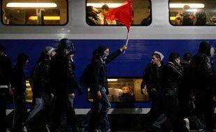 Quelque 350 supporters du PSG ont quitté Marseille à 19h40 à bord d'un TGV spécialement affrété le 25 octobre 2009.