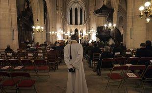L'église Saint Germain l'Auxerrois, à Paris le 24 décembre 2020.