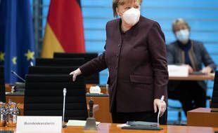 Angela Merkel, lors d'une réunion du gouvernement allemand.