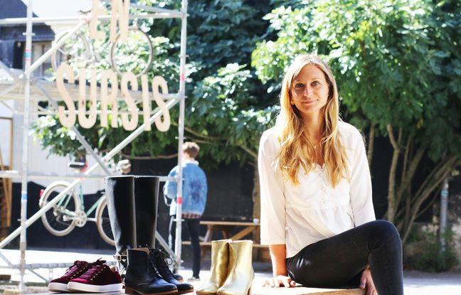 Marie Viard-Klein, créatrice d'une marque de chaussures 100% véganes, au sein de l'écosystème Darwin à Bordeaux.