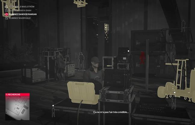 L'Agent 47 peut rapidement repérer les éléments avec lesquels interagir.