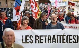 Les retraités manifestent pour protester contre la hausse de la CSG