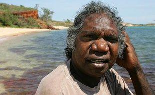 Le chanteur aborigène Mandawuy Yunupingu, en Australie, le 4 décembre 2005.