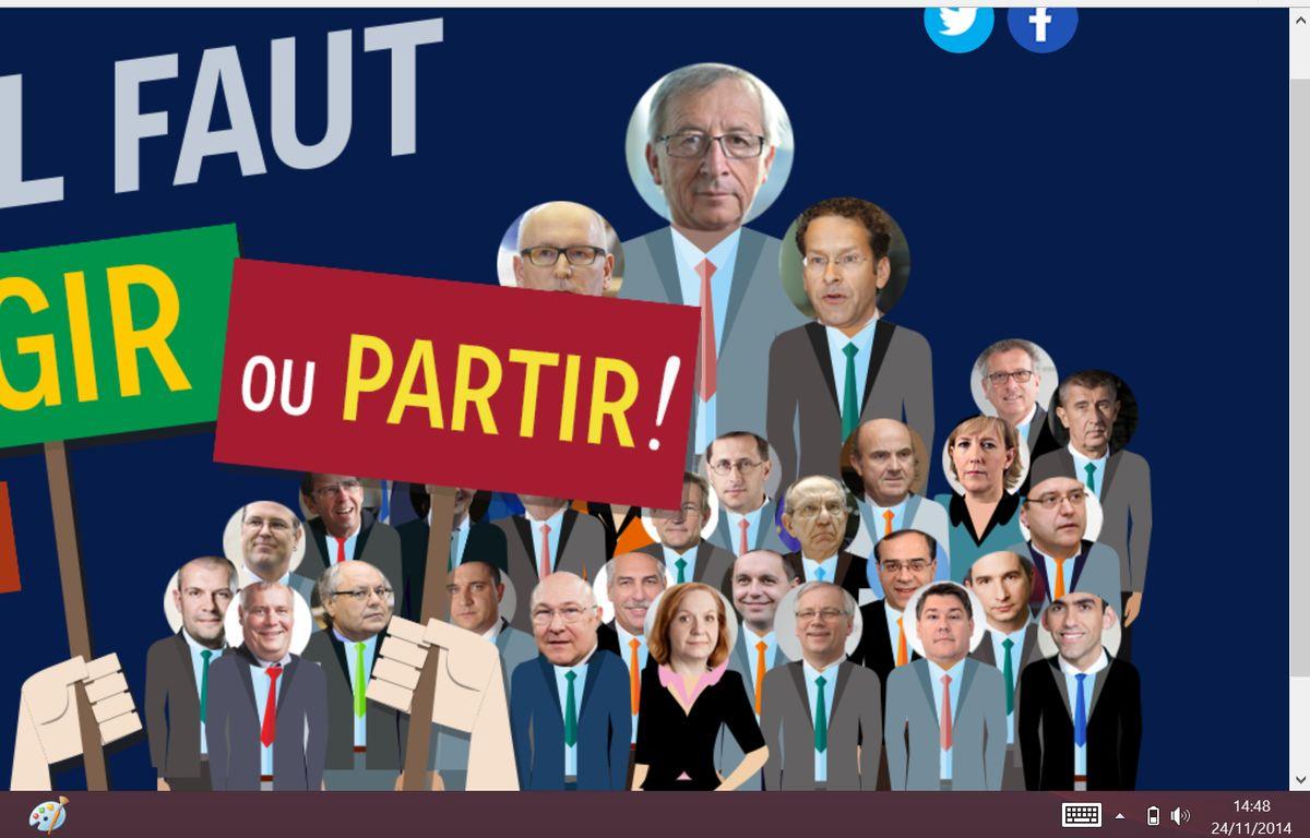Capture d'écran du site lancé mardi 25 novembre par les Verts européens. – 20 Minutes