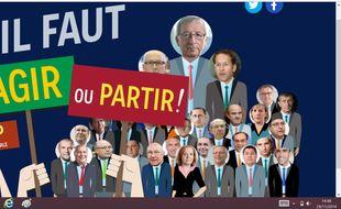 Capture d'écran du site lancé mardi 25 novembre par les Verts européens.