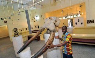 Un employé au musée des civilisations d'Abidjan le 7 février 2014