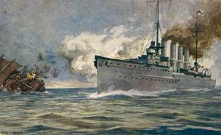 Photo d'illustration du navire de guerre allemand Karlsruhe