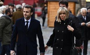 Emmanuel Macron et son épouse Brigitte Trogneux, le 10 novembre 2016 à Paris.