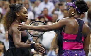 Serena et Venus Williams se sont affrontées au 3e tour de l'US Open, le 31 août 2018.