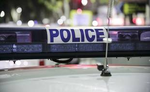Un véhicule de police. Illustration.