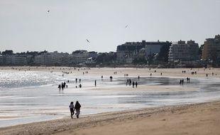 La grande plage de La Baule (Loire-Atlantique).