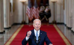 Le président américain Joe Biden a défendu sa décision de quitter l'Afghanistan dans un discours depuis la Maison Blanche, le 31 août 2021.