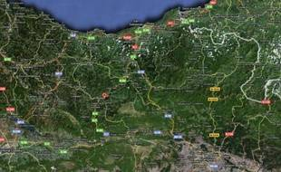 La commune de Laskao, au Pays Basque espagnol, a été frappé par une bombe de l'ETA, tôt lundi 23 février 2009.