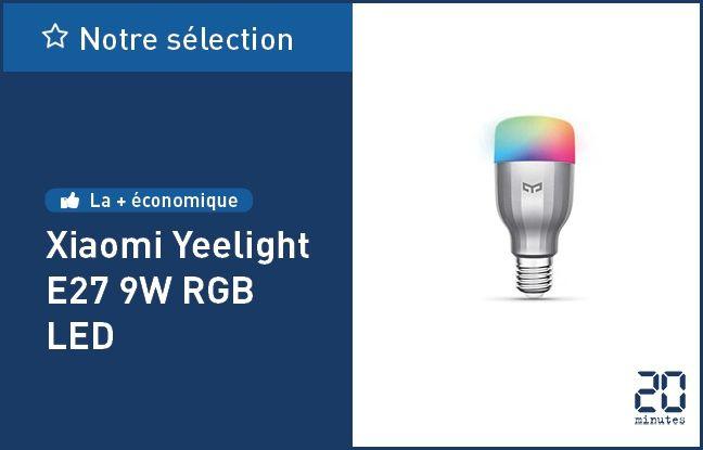 Xiaomi Yeelight E27 9W RGB LED.