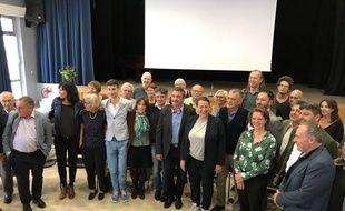 Les membres du Printemps Marseillais, rassemblement des forces de gauche pour les municipales 2020 à Marseille.