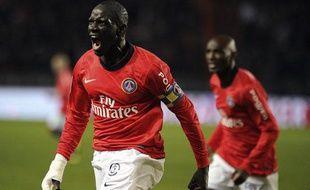 Mamadou Sakho, le 15 janvier 2011, au Parc des Princes.