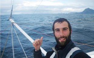 Armel Le Cléac'h devant le Cap Horn, le 07 janvier 2008.