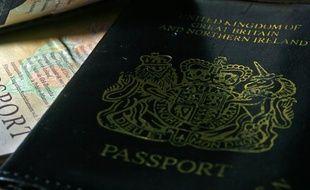 Un passeport britannique datant de 2008.