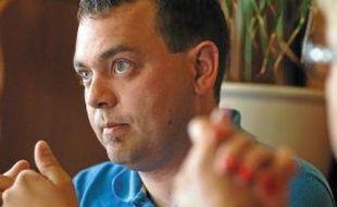 Pierre Ozenne, mardi, membre du collectif réclamant un tram fer.