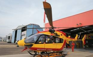 Illustration d'un hélicoptère de la Sécurité civile, ici à la base de Dragon 67 à Entzheim.