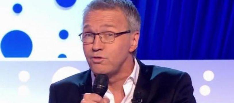 Capture d'écran de Laurent Ruquier lors de son allocution sur la polémique Angot-Rousseau, le 7 octobre 2017.
