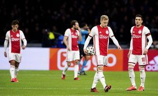 Les joueurs de l'Ajax Amsterdam lors d'un match contre AZ Alkmaar, le 1er mars 2020.