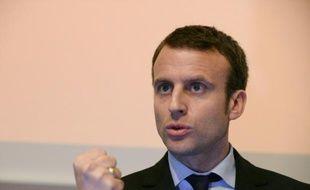 Le ministre de l'Economie Emmanuel Macron, le 7 avril 2016 à Paris