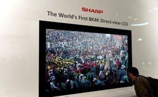 Le prototype de téléviseur 8K de Sharp, qui propose une résolution de 7680x4320 pixels.