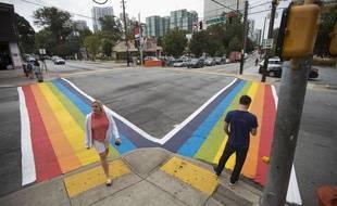 Un boulevard sera peint en multicolore pour les LGBT à Atlanta