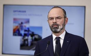 Edouard Philippe lors de la conférence de presse donnée le 28 mars 2020, à Paris.