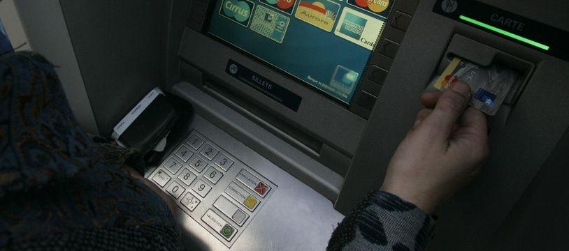 Photo d'illustration d'un distributeur de banque.