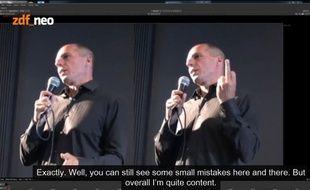 Un présentateur allemand dit avoir truqué l'image du doigt d'honneur de Yanis Varoufakis.