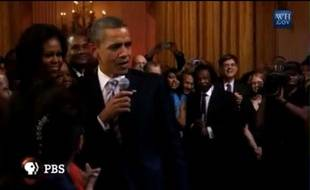 Le président Barack Obama chante «Sweet home Chicago», le 21 février
