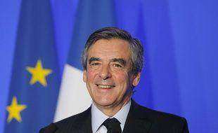 François Fillon pendant un discours sur la défense, à Paris le 31 mars 2017