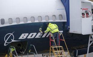 Un Boeing 737 MAX sur le tarmac de l'aéroport de Washington.