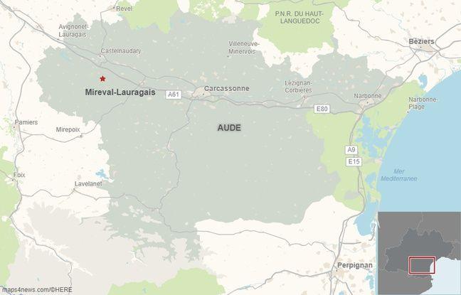 La commune de Mireval-Lauragais, dans l'Aude.