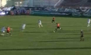 Capture d'écran du match entre Cayolle et l'Ile Rousse, le dimanche 5 janvier 2014