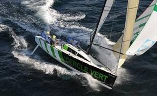 Gildas Morvan et Jean Le Cam embarquent sur le même bateau pour la Transat AG2R qui emmène les concurrents de COncarneau à Saint-Barthlélémy aux Antilles.