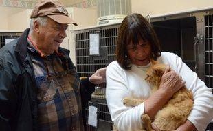 Retrouvailles entre Ginger et sa famille, décembre 2015.