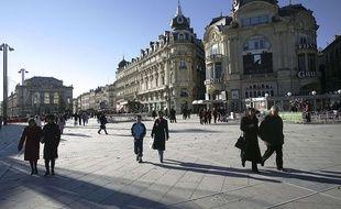 Illustration de la place de la Comédie à Montpellier.