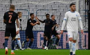 Manchester City ouvre le score contre l'OM.